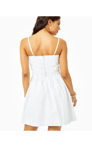 Marta Dress Resort White Petite Diamond Eyelet