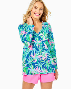 Etta Long Sleeve Top Macaw Blue          Sweet Escape
