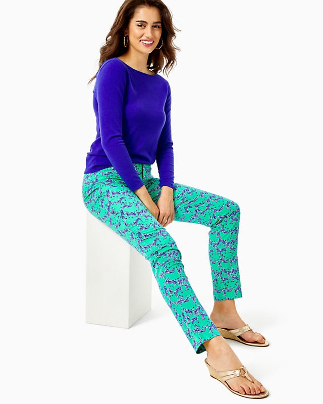 Kelly Stretch Pant Everglades Green    Heebee Zeebees