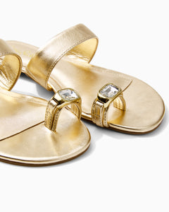 Callie Sandal Gold Metallic