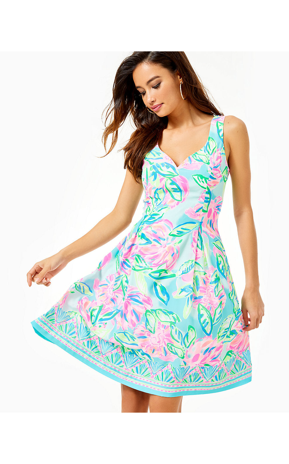 Linnet Stretch Dress Multi Totally Blossom