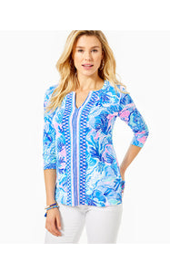 Upf 50+ Karina Tunic Saltwater Blue Shade Seekers Engineered