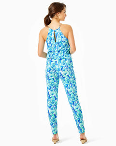 Keeran Jumpsuit Sea Glass Aqua      Seeing Double