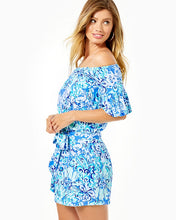 Load image into Gallery viewer, Samia Romper Saltwater Blue      Suns Out Funs Out