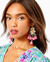 Load image into Gallery viewer, Jungle Rain Earrings Cockatoo Pink