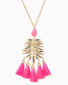 Jungle Rain Necklace Cockatoo Pink