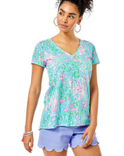Load image into Gallery viewer, Etta V-Neck Amalfi Blue         Best Fishes