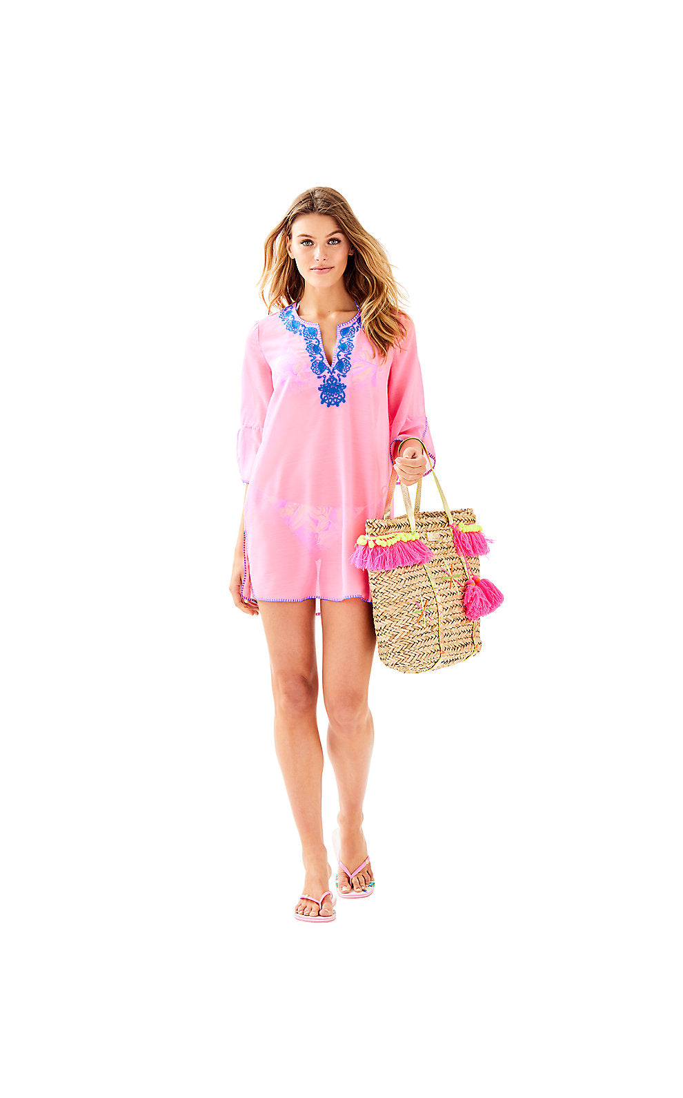 Piet Coverup Pink Sunset