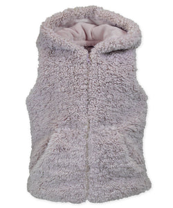 Zip Up Hooded Fur Vest