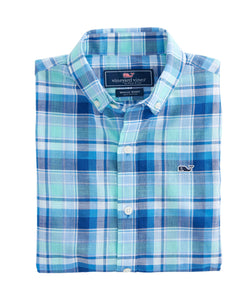 VV Boys' Capri Plaid Button Down