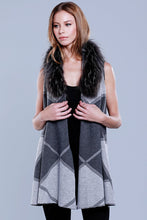 Load image into Gallery viewer, Women's Multi Vest w/ Raccoon Fur Neckline