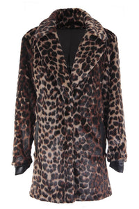 Women's Faux Fur Leopard Coat