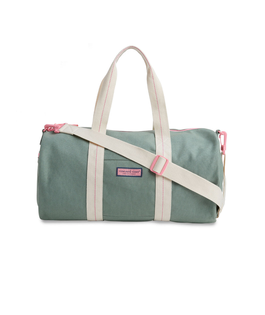 Vineyard Vines Pink & Green Duffel Bag