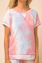 Load image into Gallery viewer, Women's Short Sleeve Tie Dye Top