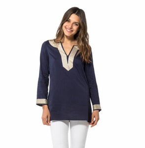 Sail to Sable Long Sleeve Tunic Top