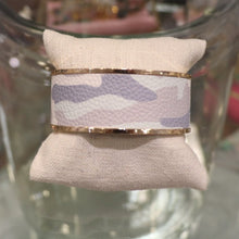 Load image into Gallery viewer, Camo White Cuff Bracelet