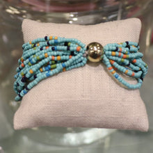 Load image into Gallery viewer, Blue Beaded Bracelet