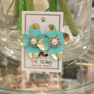 Gold Tip Flower Earrings