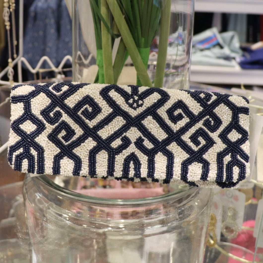 Beaded Fold-Over Clutch