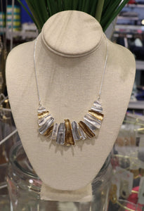 Silver & Gold Wave Necklace