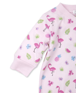 Aloha Flamingo Zip Footie