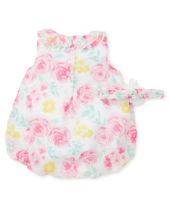 Floral Chiffon Bubble & Headband