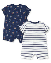 Load image into Gallery viewer, 2 Pc Sailboat Romper Set