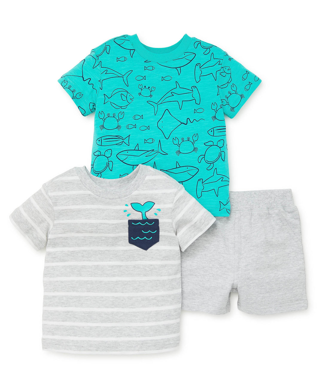 3 PC Sea Creatures Play Set