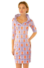 Load image into Gallery viewer, Jersey 3/4 Sleeve Ruffneck Dresses