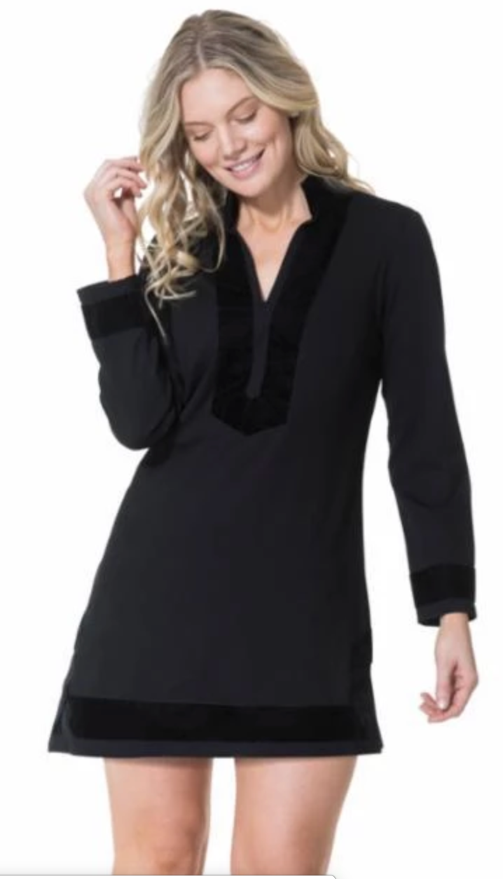 STS Black Velvet Tunic Dress