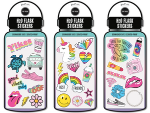 H2O Flask Stickers