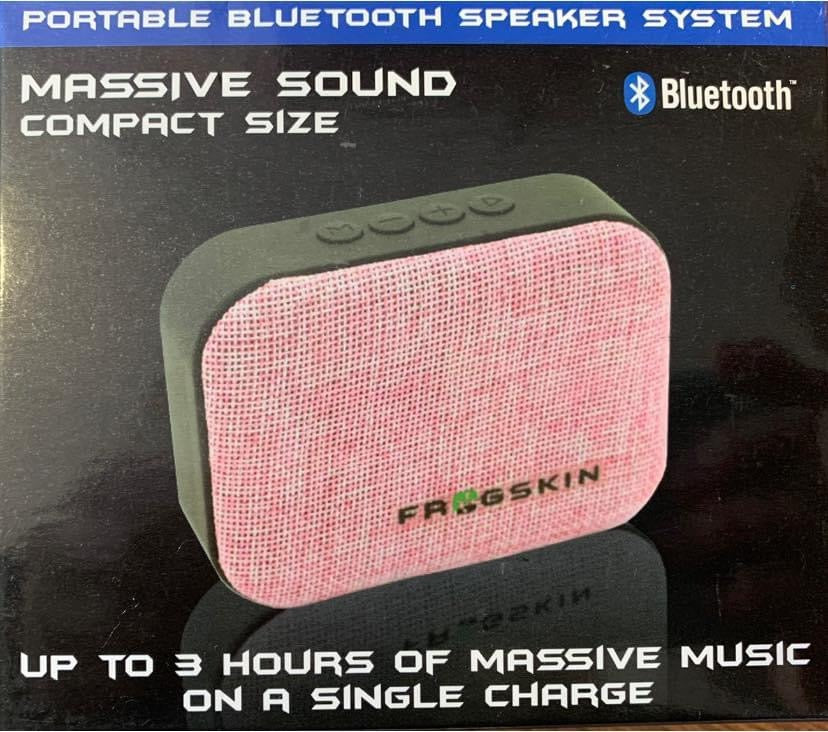 Compact Portable Bluetooth Speaker System