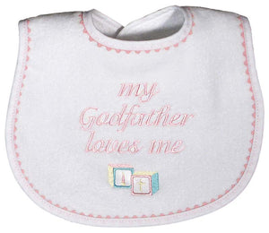 My Godfather Loves Me Bib