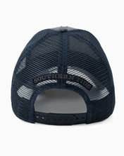 Load image into Gallery viewer, Men's High Crown Trucker Hat - Heathered Navy