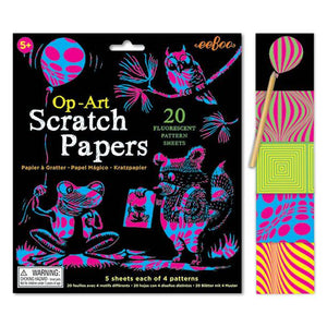 Fluorescent Pattern Scratch Papers