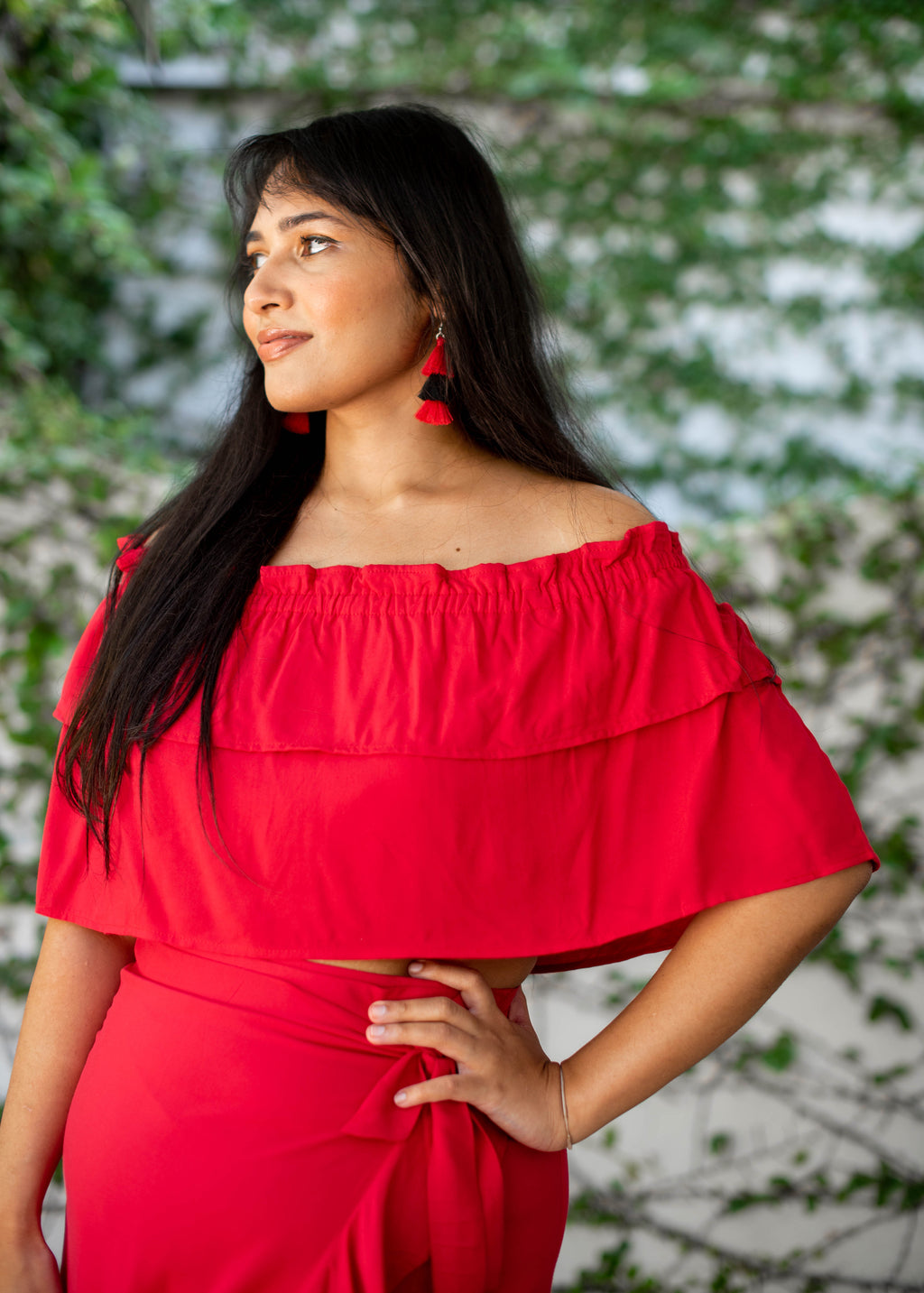 Flow Off Shoulder Top | Rouge