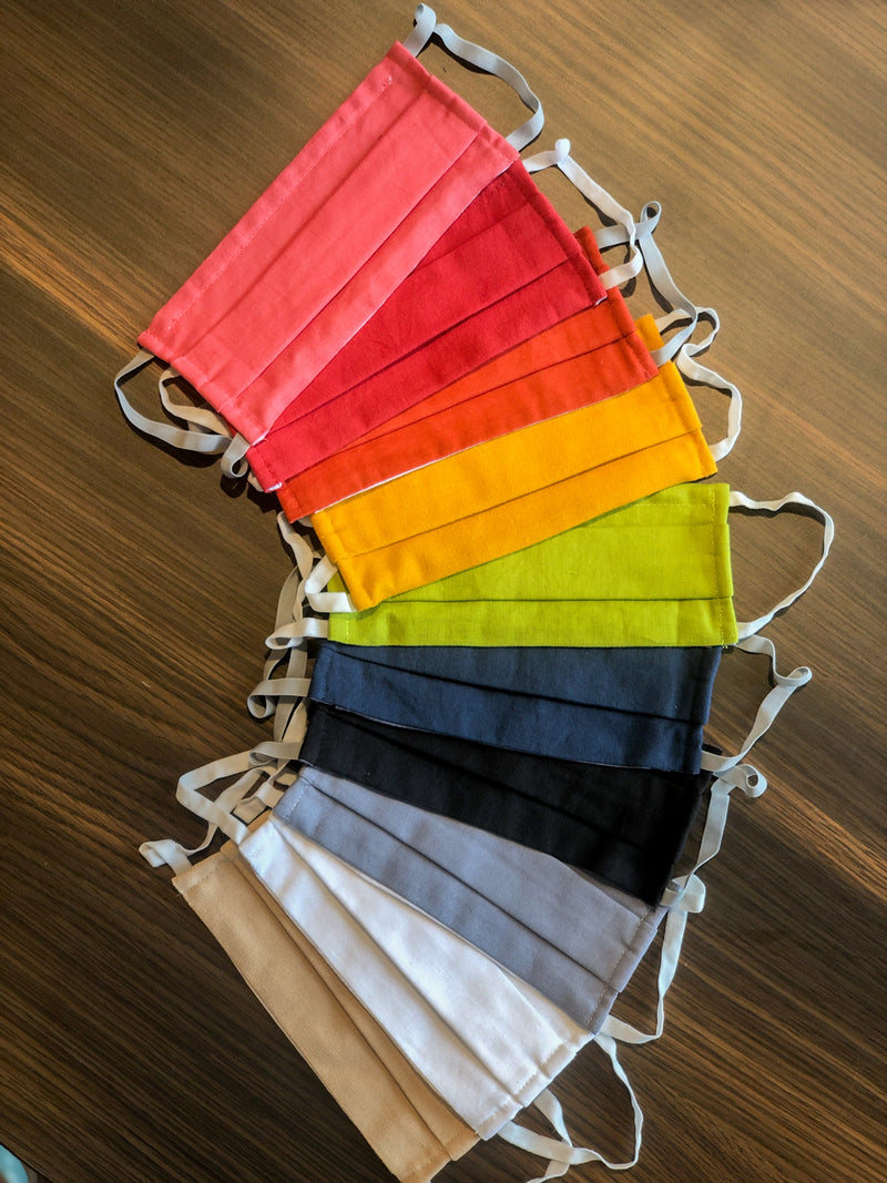 Linen Face Masks | Multi Colour | Pack of 10