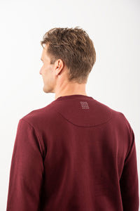 SWEATSHIRT DEEP BURGUNDY