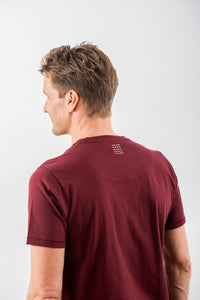 T- SHIRT DEEP BURGUNDY