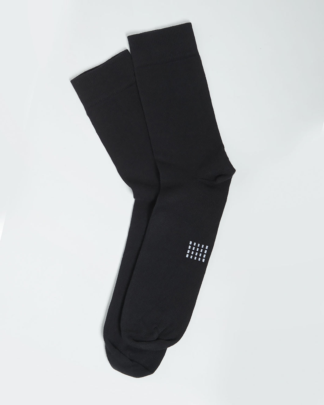 COTTON SOCK SOLID BLACK- 2 PACK
