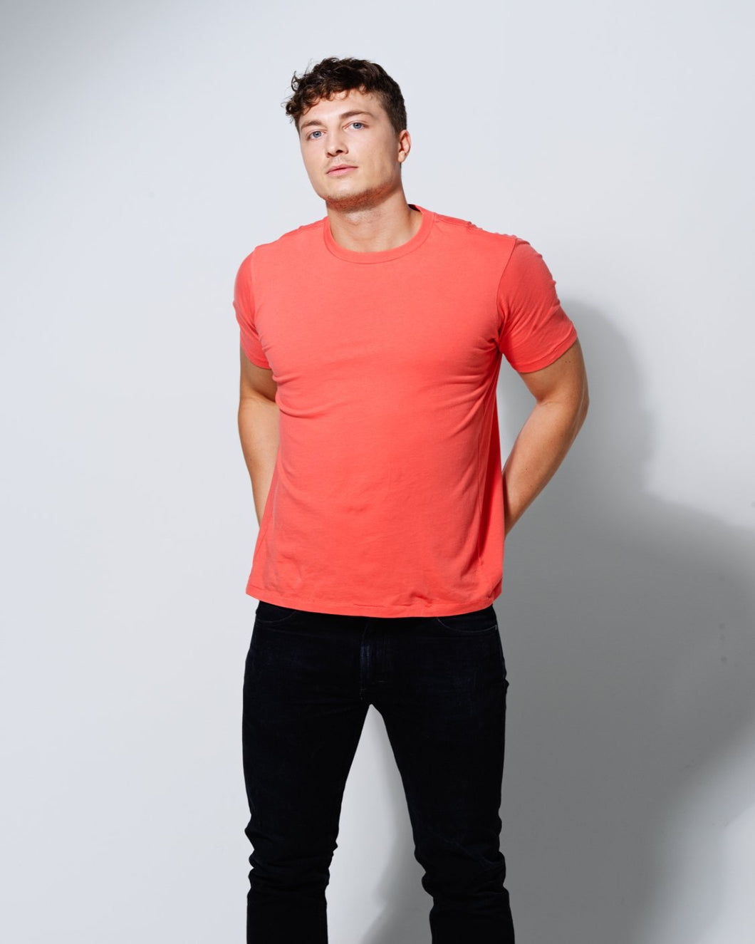 T- SHIRT CORAL ORANGE-T-shirt-Blankdays