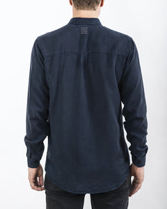 TENCEL SHIRT NAVY (4350840799332)