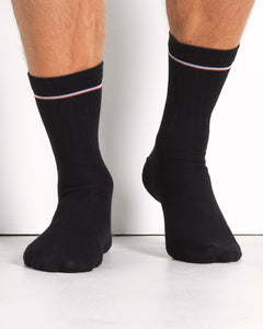 the merino sock black- 2 pack