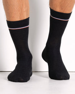 COTTON SOCK BLACK- 2 PACK