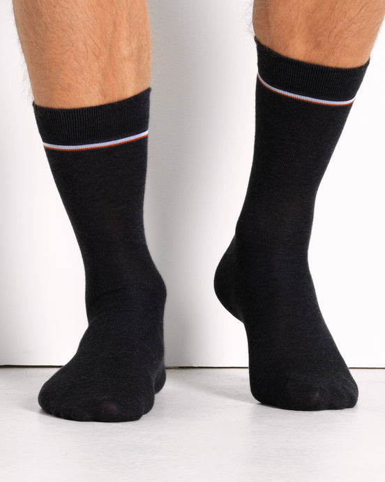 COTTON SOCK BLACK- 2 PACK (1674056990778)