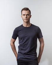 Load image into Gallery viewer, T- SHIRT NAVY-T-shirt-Blankdays