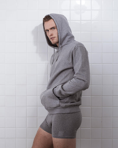 BOXER SHORT GREY MELANGE- 2 PACK