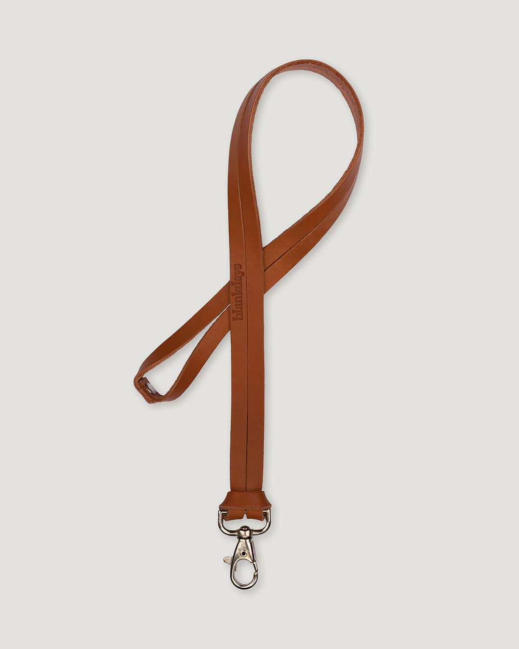 KEYCHAIN LONG COGNAC-accessories-Blankdays