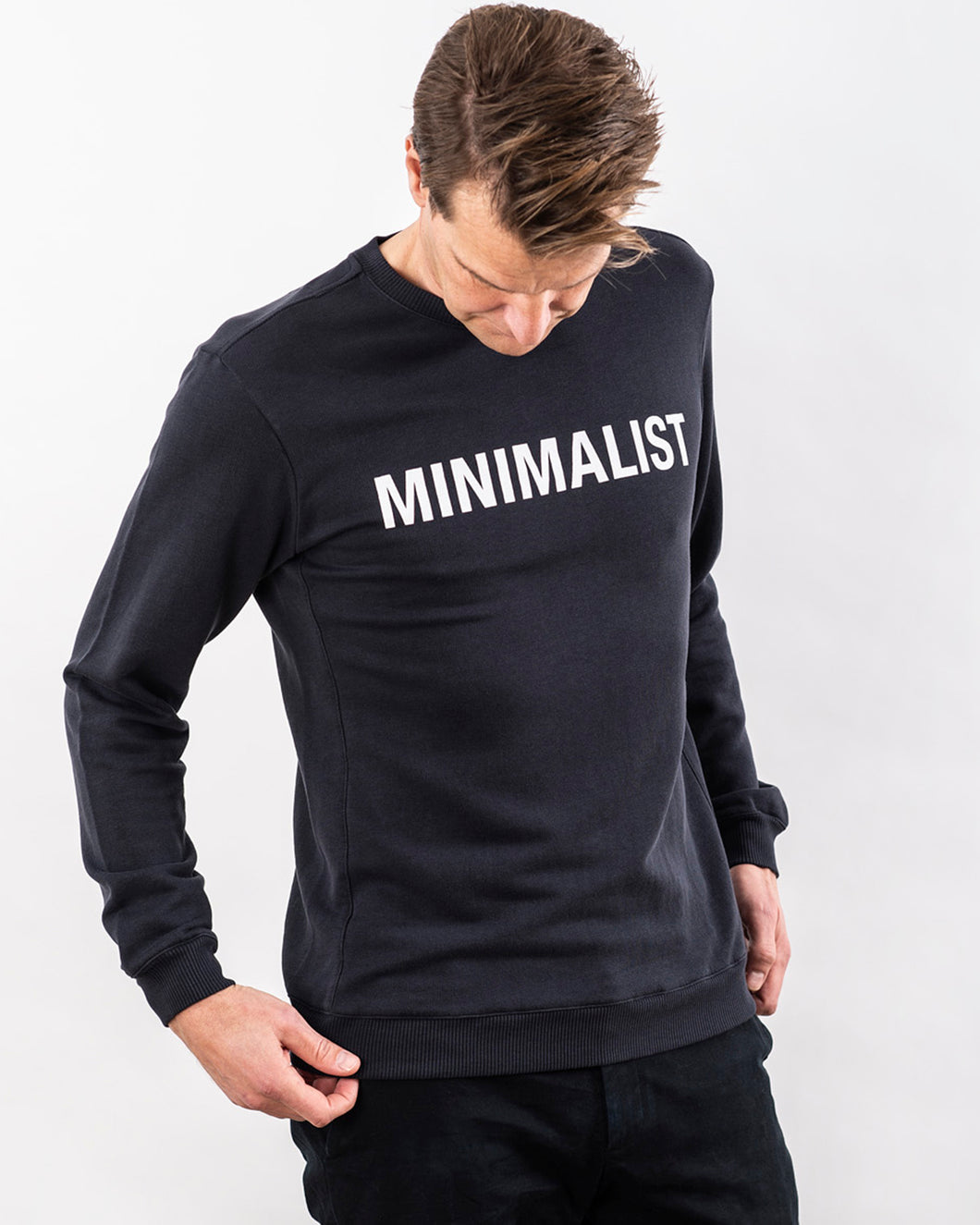 MINIMALIST TENCEL™ SWEATSHIRT DARK NAVY LIMITED EDITION