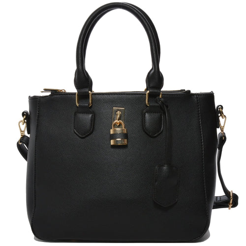 Mechaly Women's Aimee Black Vegan Leather Shoulder Handbag | Allshop.store